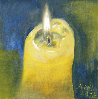 2013_Die Kerze_15x15cm_Öl_Papier