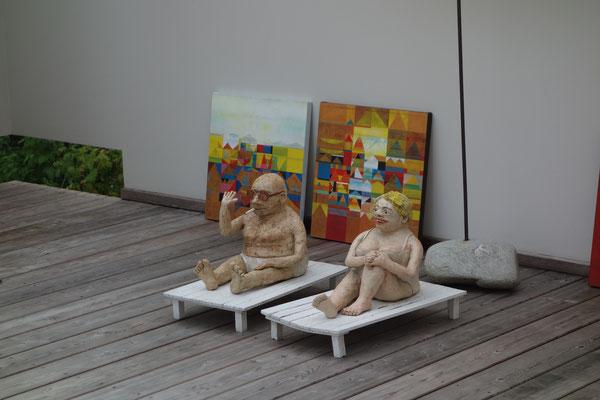 Werke von Gabi Troester und Erwin Schwentner
