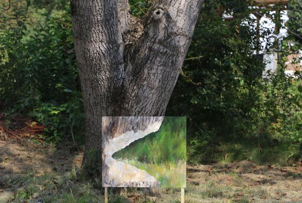 2020_Der Nussbaum und der Biber_50x60cm_Acryl_Dibond