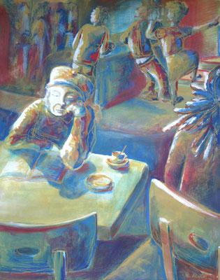 2011_Vor der Sperrstunde_40x30cm_Gouache und Pastell_Papier