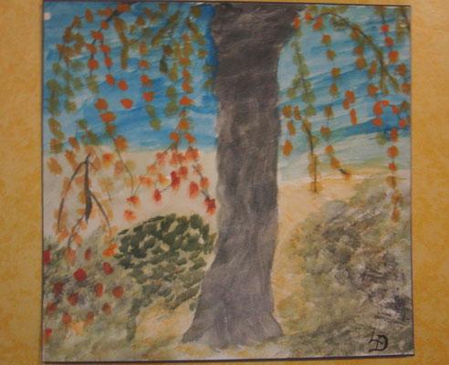 Drei Bilder, gemalt von Frau Dittmann ..