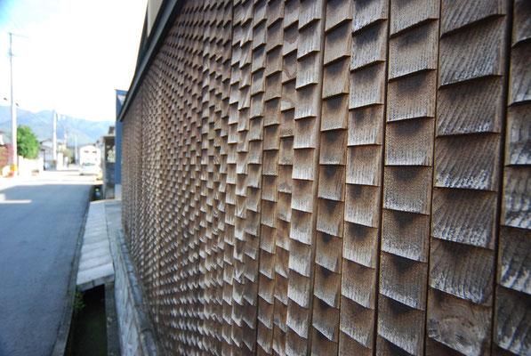 木製の板塀