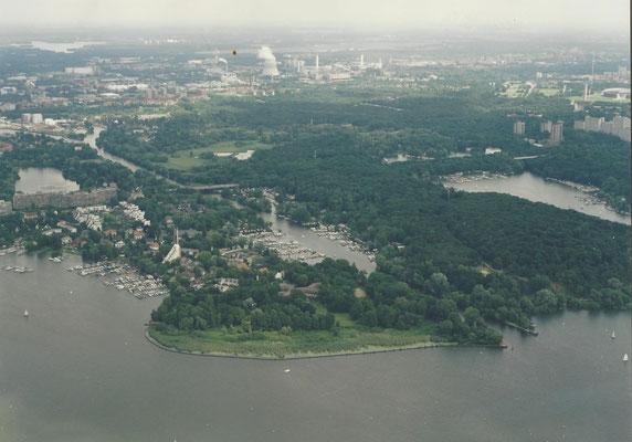Luftaufnahme von Pichelsdorf 1979