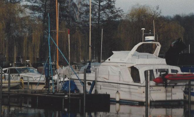 Unsere Ramme im Hafen am Pichelssee