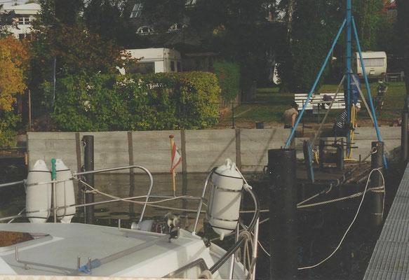 Neue Uferbefestigung an der Scharfen Lanke im August 1997
