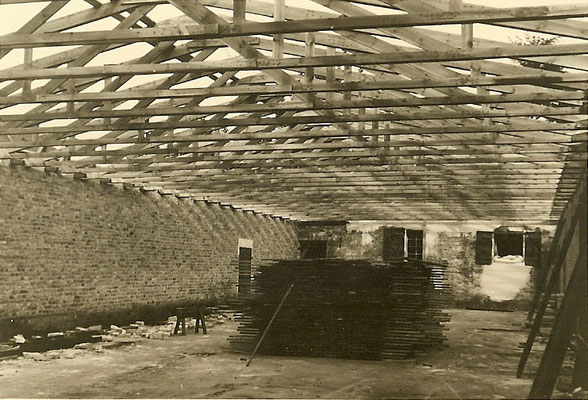 Dachkonstruktion Halle 3 - 1954