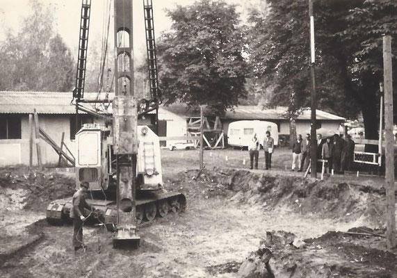 1968 - Ohne Pfahlgründung geht in Wassernähe nichts......