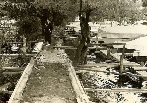 Bau der neuen Buhne 1961