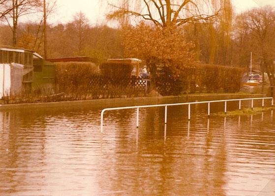 07. Januar 1975 - an diesem Tag war der höchste Wasserstand seit 75 Jahren erreicht, Pegel Sophiewerder 30,84