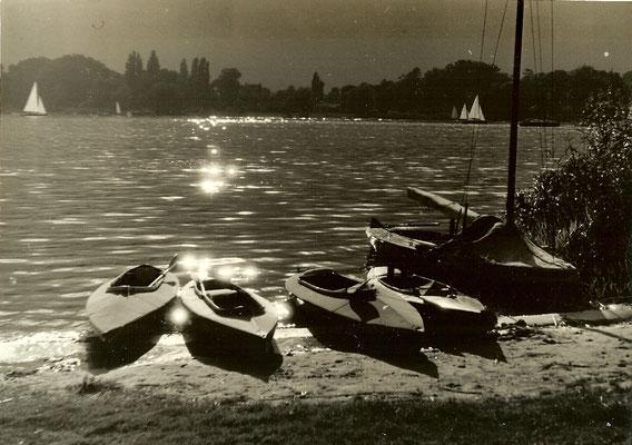 Sonnenuntergang an der Havel 1951