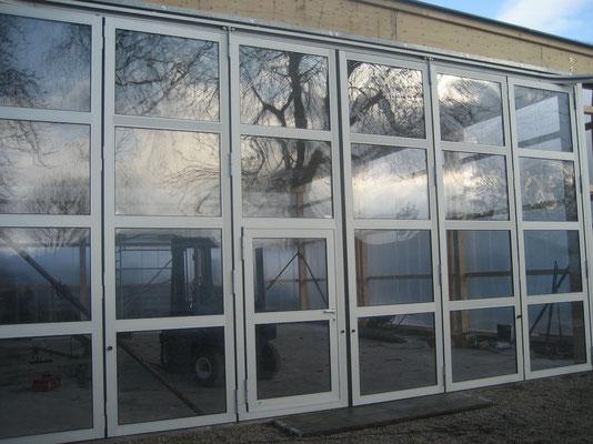 Ende November 2007 - Unsere neue Bootshalle