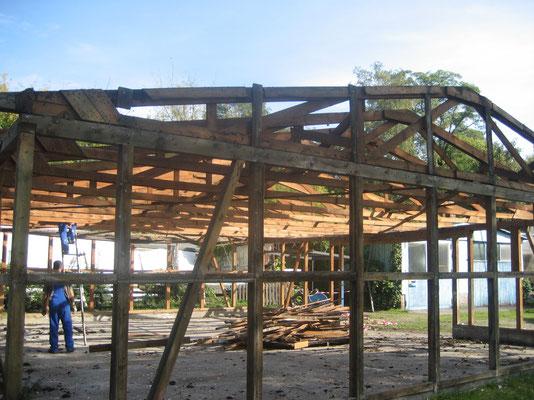 September 2007 - Abriss der alten Bootshalle