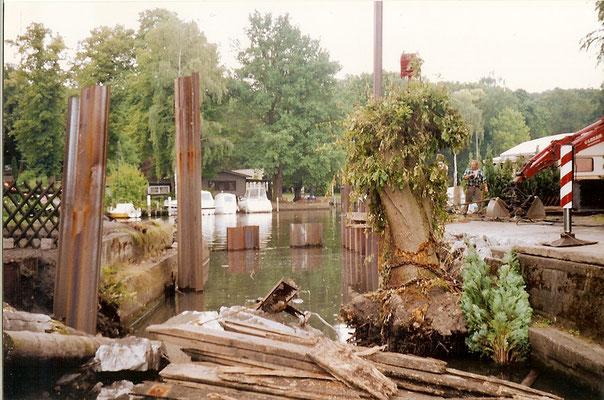 Sommer 2004 - Bauarbeiten an der alten Sliprampe