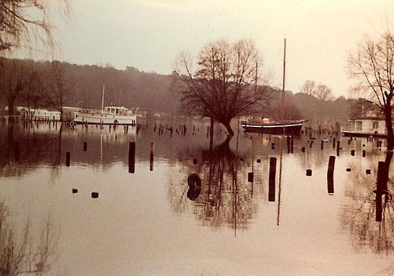 Hochwasser am Pichelssee 1967