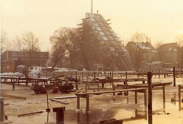 Blick auf den neuen DLRG Turm 1971