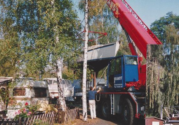 Firma Brandt beim Aufslip 1991