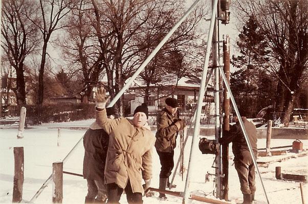 Rammarbeiten bei 15 Grad Kälte und Ostwind 1968