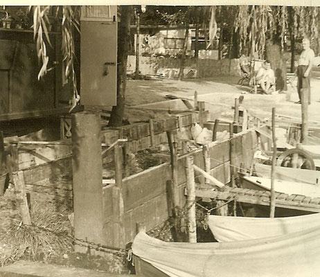 Bau der neuen Betonbuhne 1961