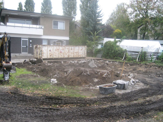 September 2007 - Abriss für den Neubau