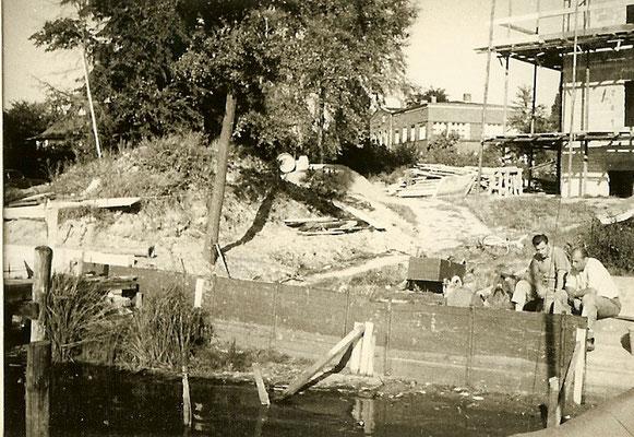 Bauarbeiten an der Scharfen Lanke 1966