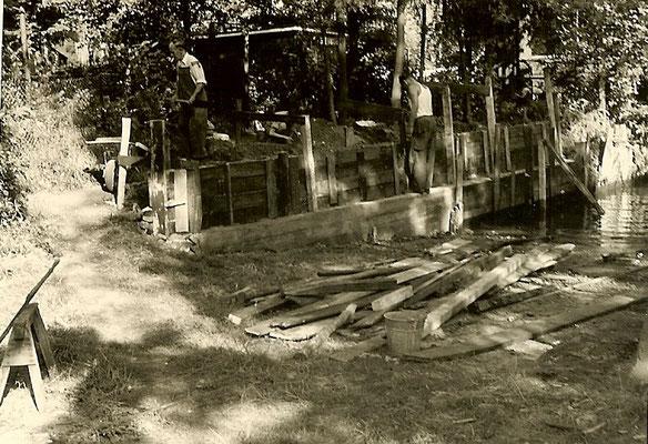 Arbeiten an der Slipanlage am 30. August 1958