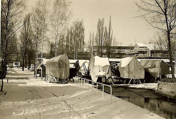 Winterlager Havelseite im Februar 1965