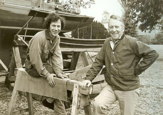 Herr Förster und Günter Angermann 1973