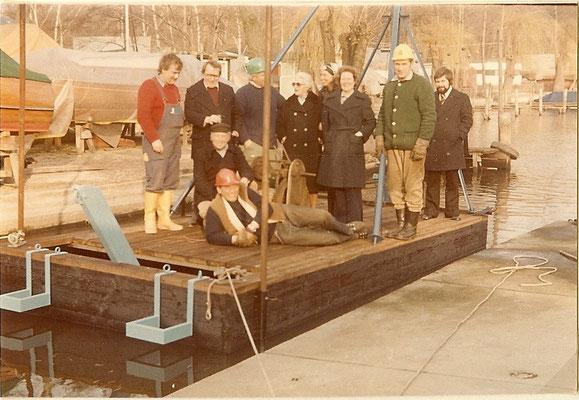 Einweihung unserer neuen Ramme am 19. März 1975