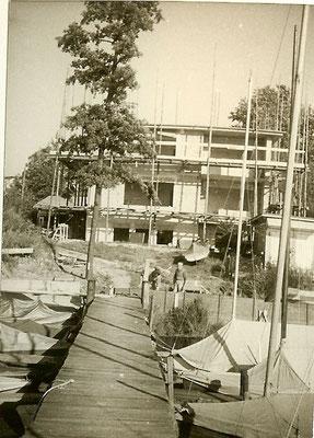 Bau des Hauses an der Scharfen Lanke 1966