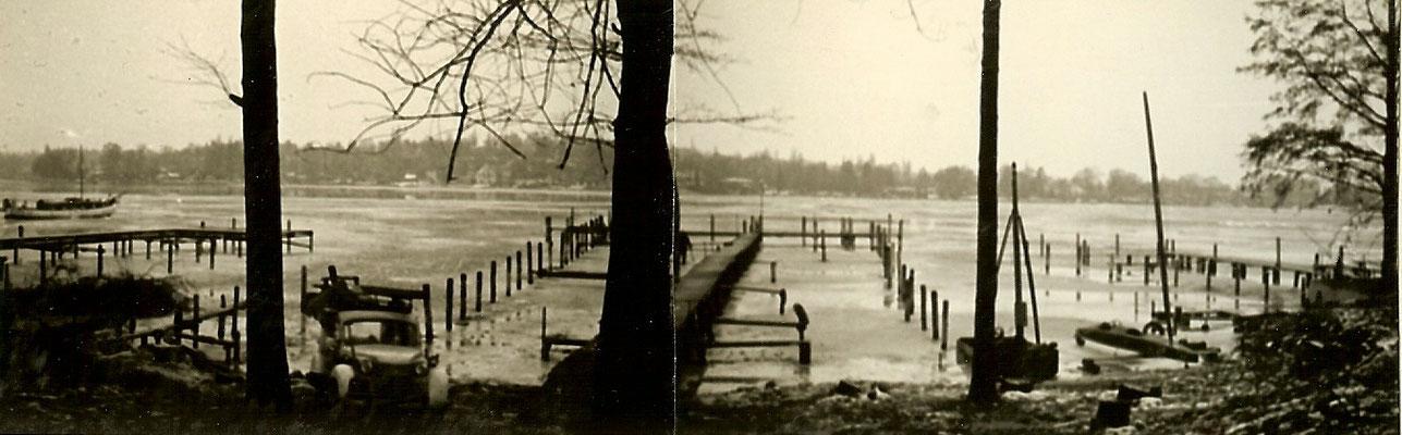 Blick auf die Scharfe Lanke im Januar 1964