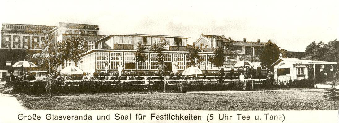 große Glasveranda unserer Gaststätte Havelblick