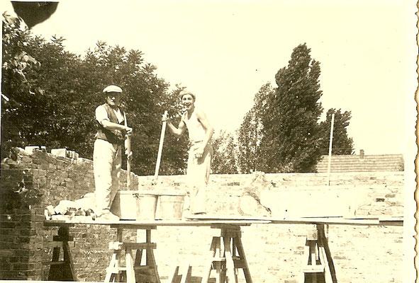 Bau der Kantine 1952