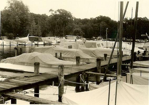 Unsere Bootsstände am Pichelssee 1958