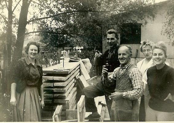 Einweihung der neuen Betonbuhne 1961