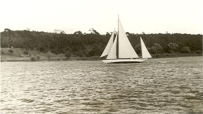 Die Prosit III (Baujahr 1919, 18m x 3,70m x 2,10m) - Segelschiff vom Akademischen Seglerverein und 1919 - 1968 im Besitz des Vereins