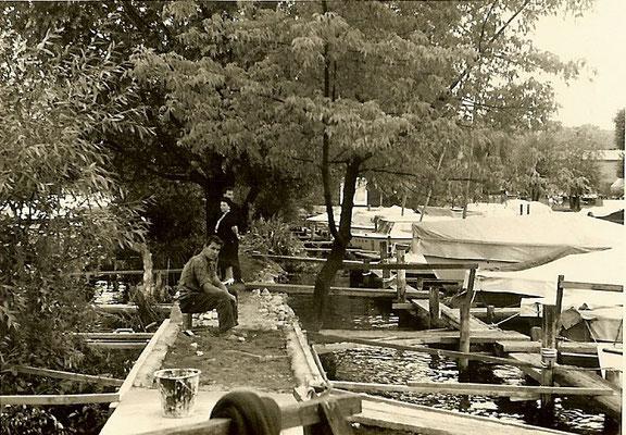 Bauarbeiten an der Buhne 1961