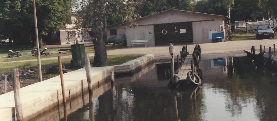Neue Uferpromenade an der kleinen Sliprampe 1987