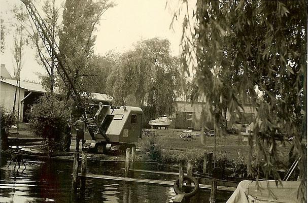 Neue Steganlage am Pichelssee 1957