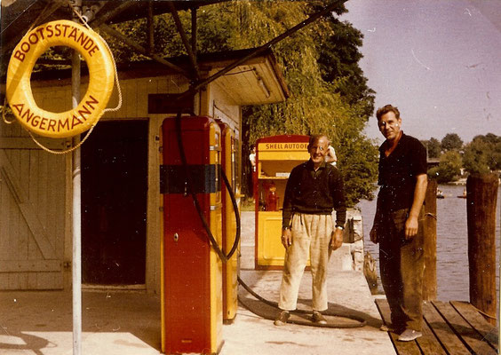 Unsere Shell Tankstelle in Rot Gelb 1964