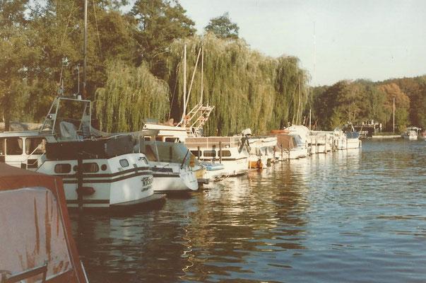 Unsere Bootsstände im Oktober 1986
