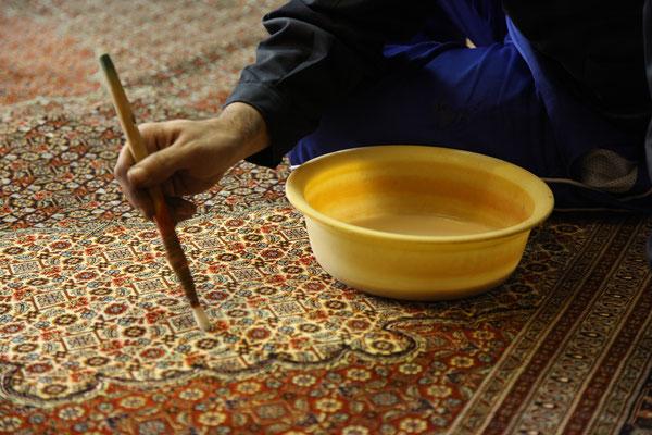 Neufärben von Teppichen | Teppichreinigung Heinig
