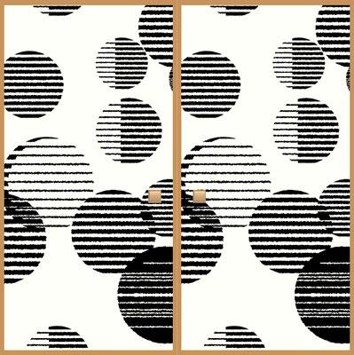 ふすま紙デザイン会社用ふすま部分イラスト黒