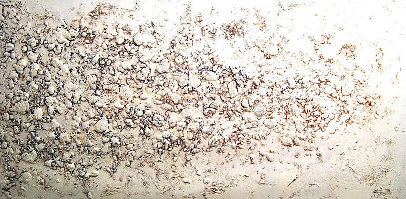 Durs Leben in Siena, 200x120cm, Acryl, Sandstruktur auf Leinwand, Galereikeilrahmen 02/2015