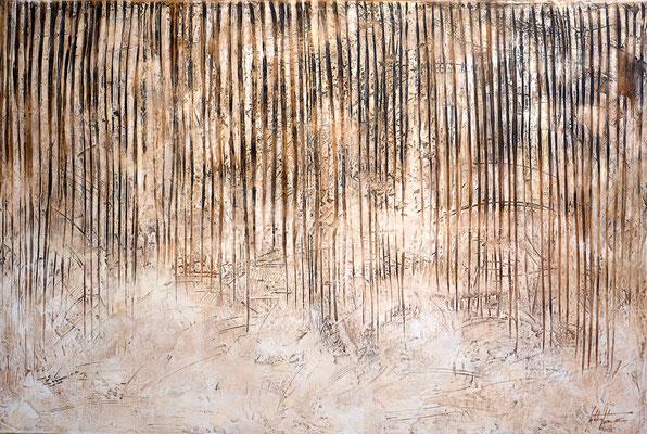 Verschmutzt 16, 120x180cm, Acryl, Leichtstruktur auf Leinwand. Galeriekeilrahmen 06/2015