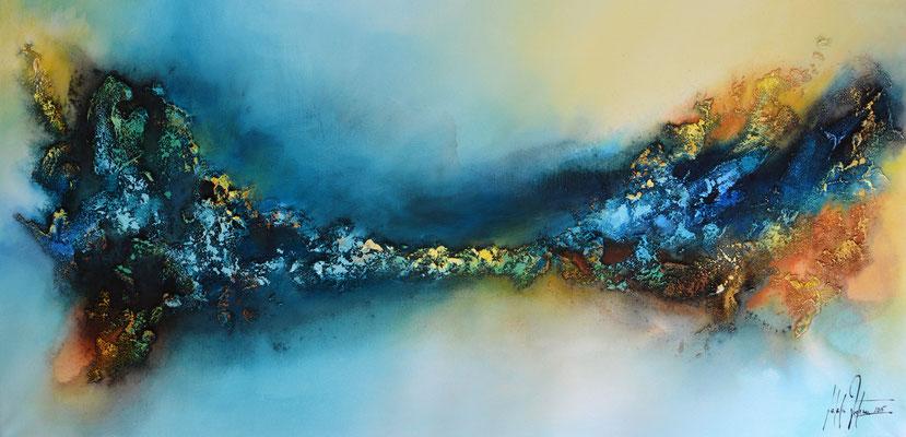 Magnum Studium 3, 120x60cm,  Acryl, Sandstruktur auf Leinwand. Galeriekeilrahmen 04/2015