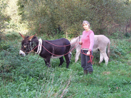 Avec les deux ânes, il y a déjà 5 ans !