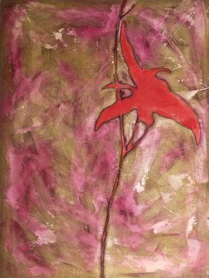 Erbario I, 2001 olio e pigmenti su tela cm 132x100