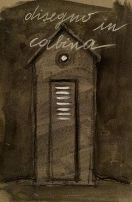 Stefania Fabrizi - disegno in cabina - tecnica mista su carta - 24/2/2018