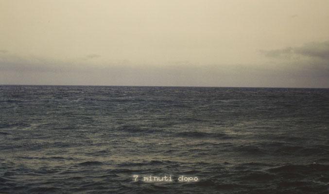 7 minuti prima/7 minuti dopo, 2003, dittico, fotografia su forex, cm 245x80