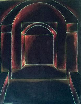 Alcove 2003 acrilico su velluto cm 68 x 80